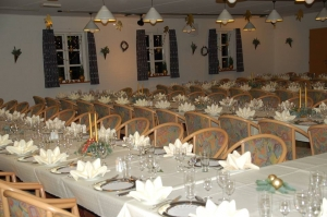 Hotel Gjerrild Kro, bordopdækning, festsalen, fest