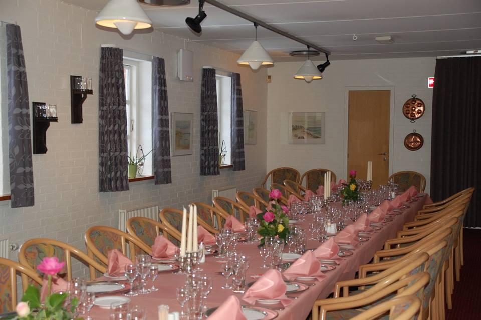 Hotel Gjerrild Kro, bordopdækning, festsalen, selskaber