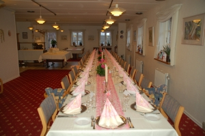 Hotel Gjerrild Kro, fest, borddækning