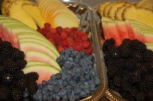 Hotel Gjerrild Kro, fest, menu, frugt
